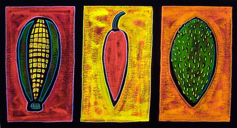 maiz/chile/nopal, 2008, 24x15