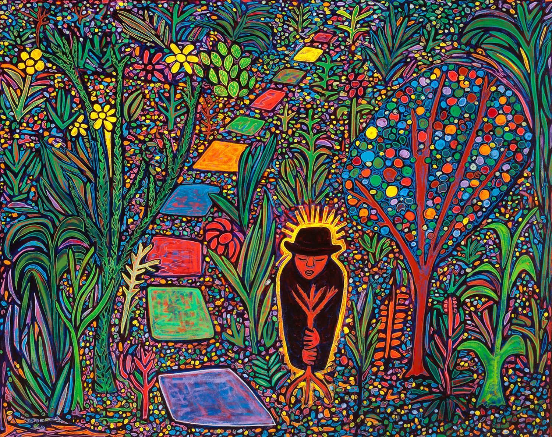 cholo gardener, 2013, 20x17