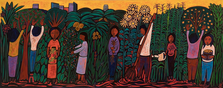 community garden in la, 24x12