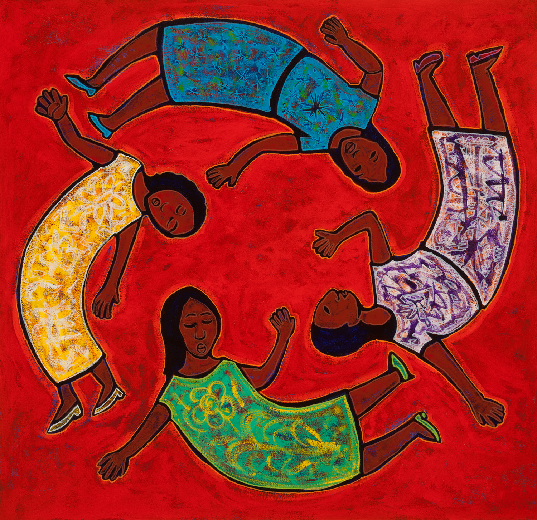 cuatro mujeres, 2014, 17x17