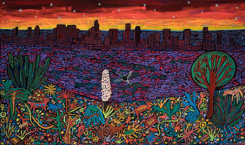 los angele sunset, 2018, 24x17