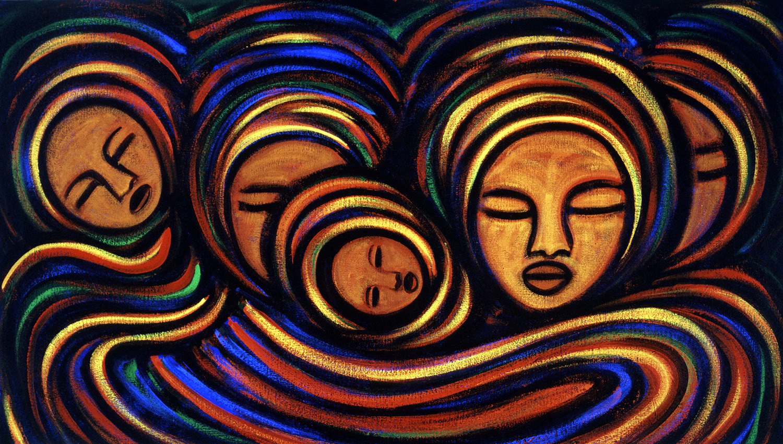 mujeres, 2002, 24x16