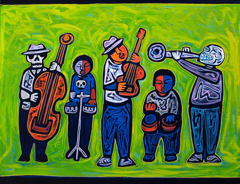 musicos, 2007, 24x18