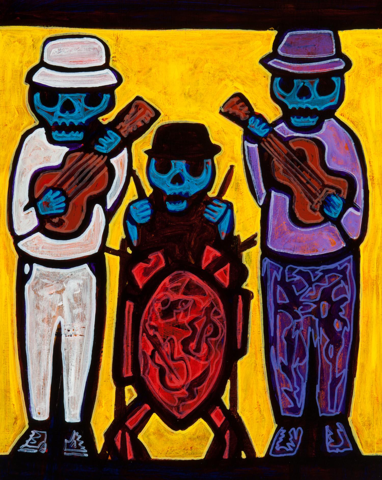 trio/rockeros, 2010, 17x22