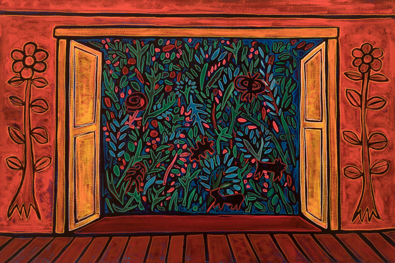 view to garden, 2017, 21x15