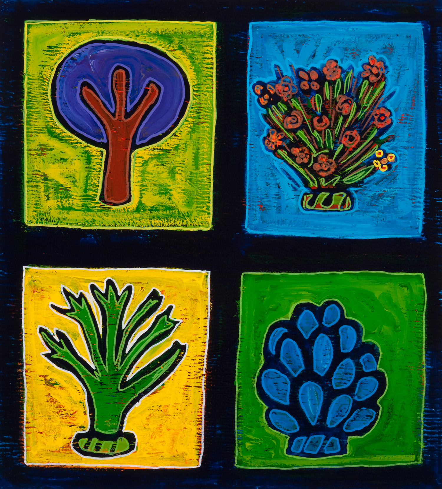 4 more plants, 2009, 18x20
