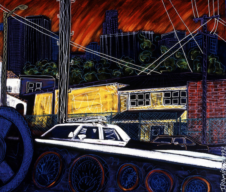 cop bust, 1997, 41x35