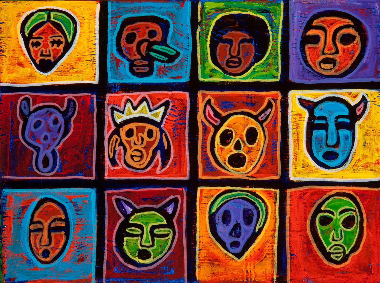 mascaritas, 2012, 12x8
