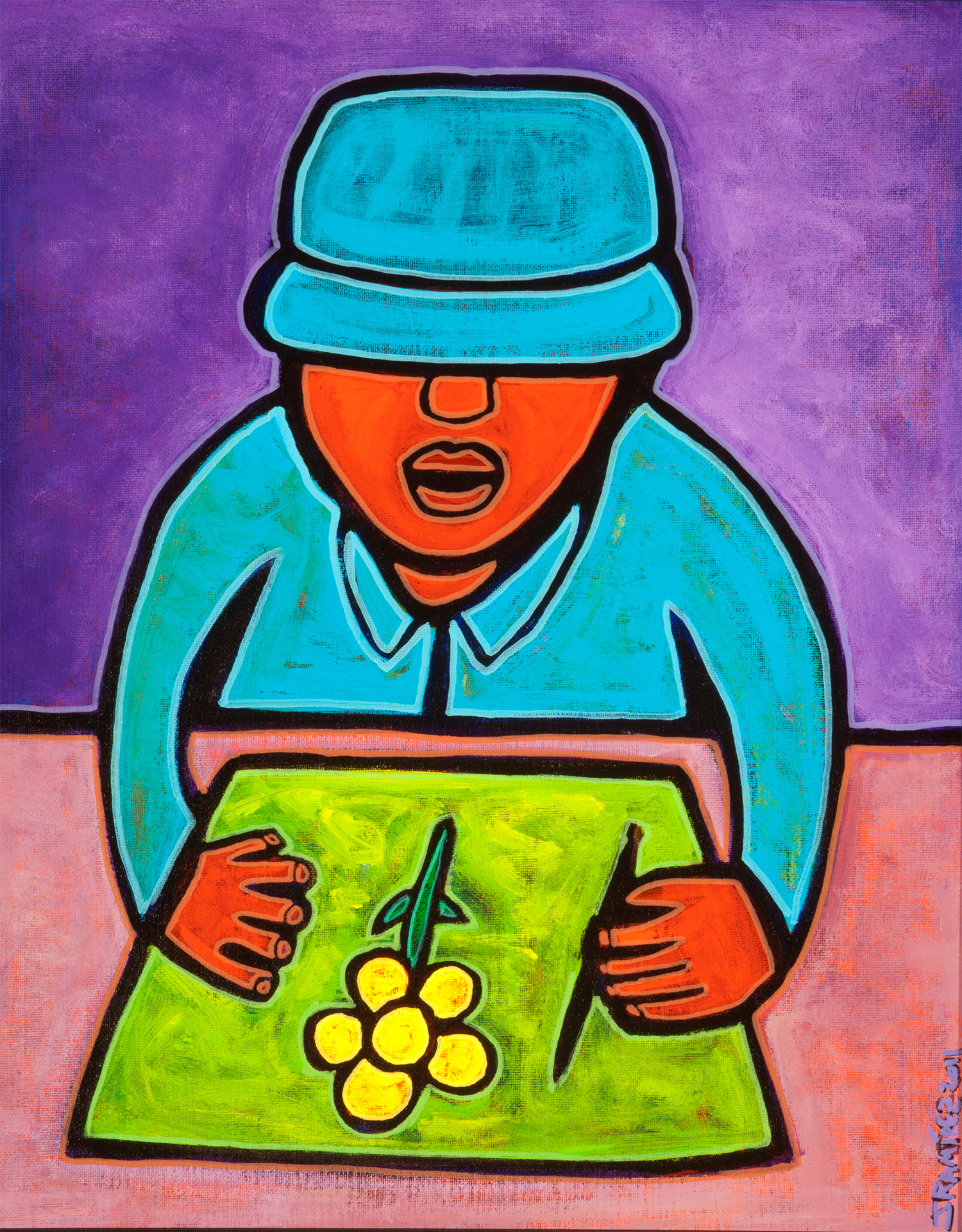 mayan boy from the pico, 2011, 18x22