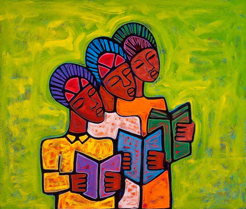 three scholars, 2013, 28x24