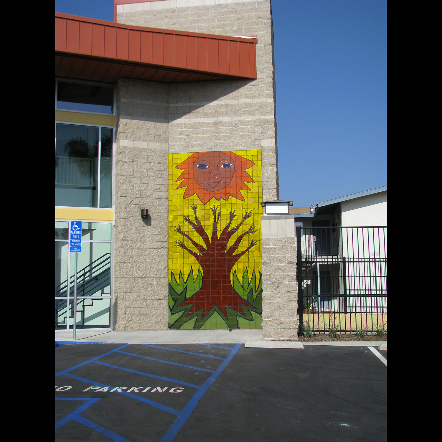 Primavera, tile mural, Buena Clinton Youth and Family Resource Center, Gardena, California, 2010.