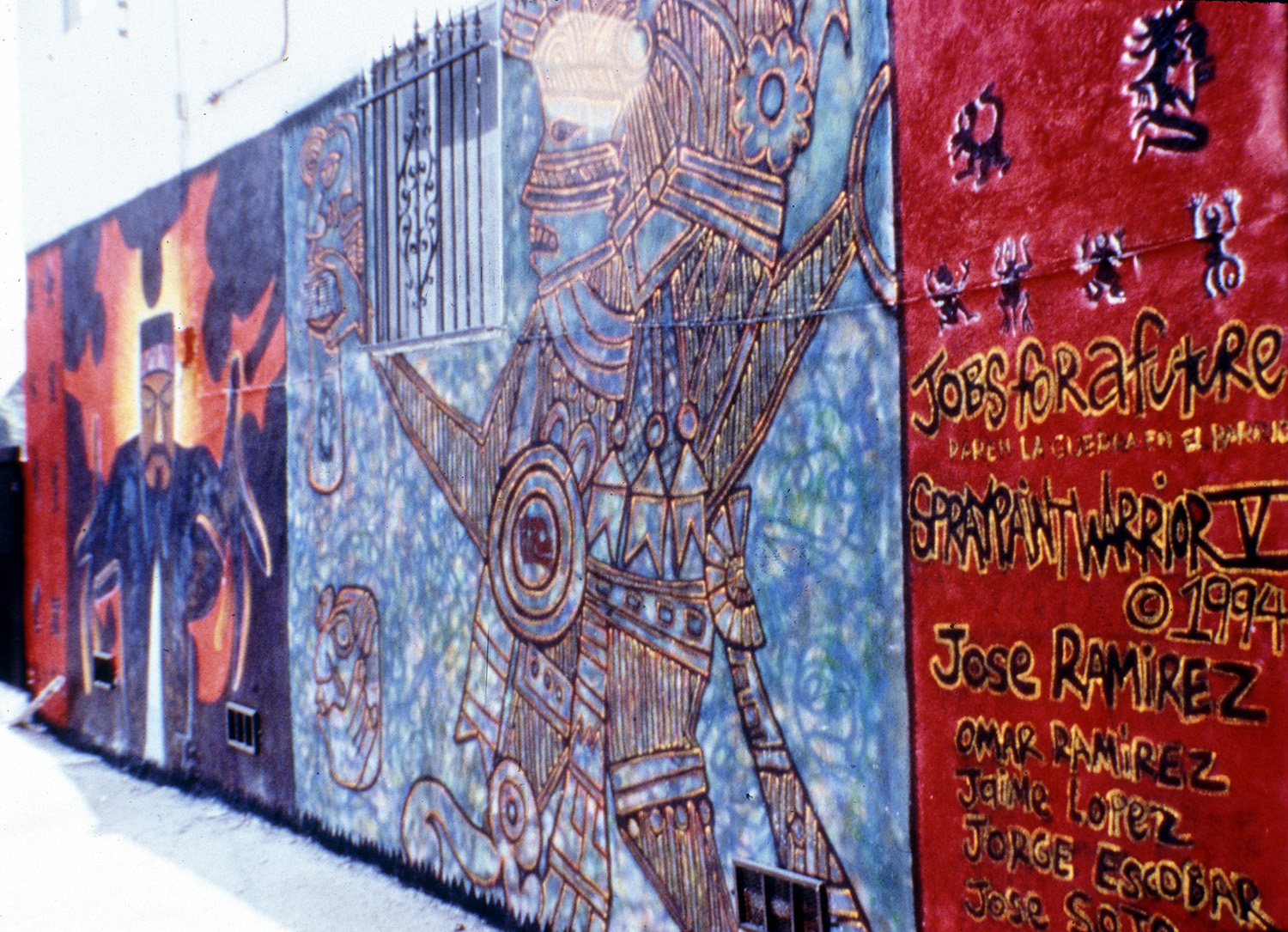 Spraypaint Warrior, East Los Angeles, California, 1995.
