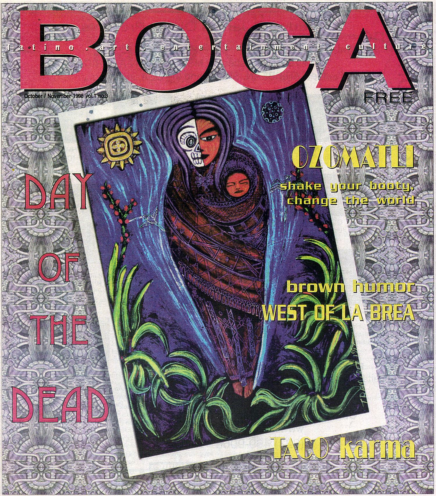 Painting used for cover of BOCA magazine, 1996.