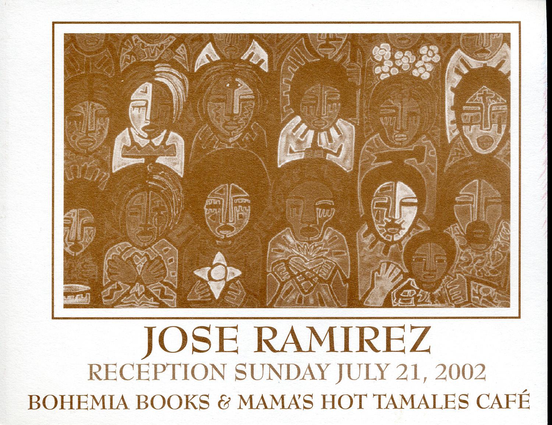Card for artshow at Bohemia Books, Pico Union, 2002.