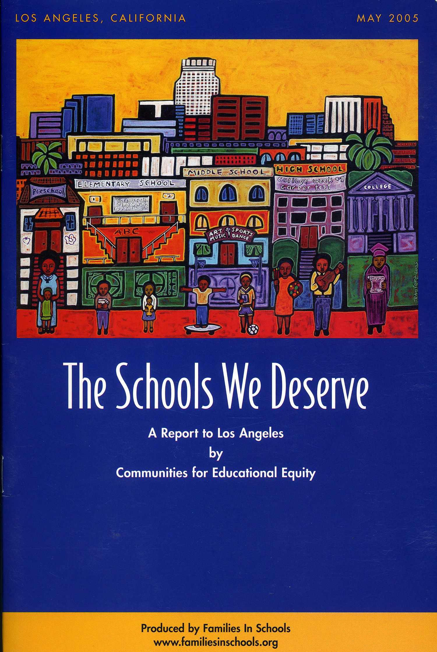 Education used for The Schools We Deserve report, 2005.