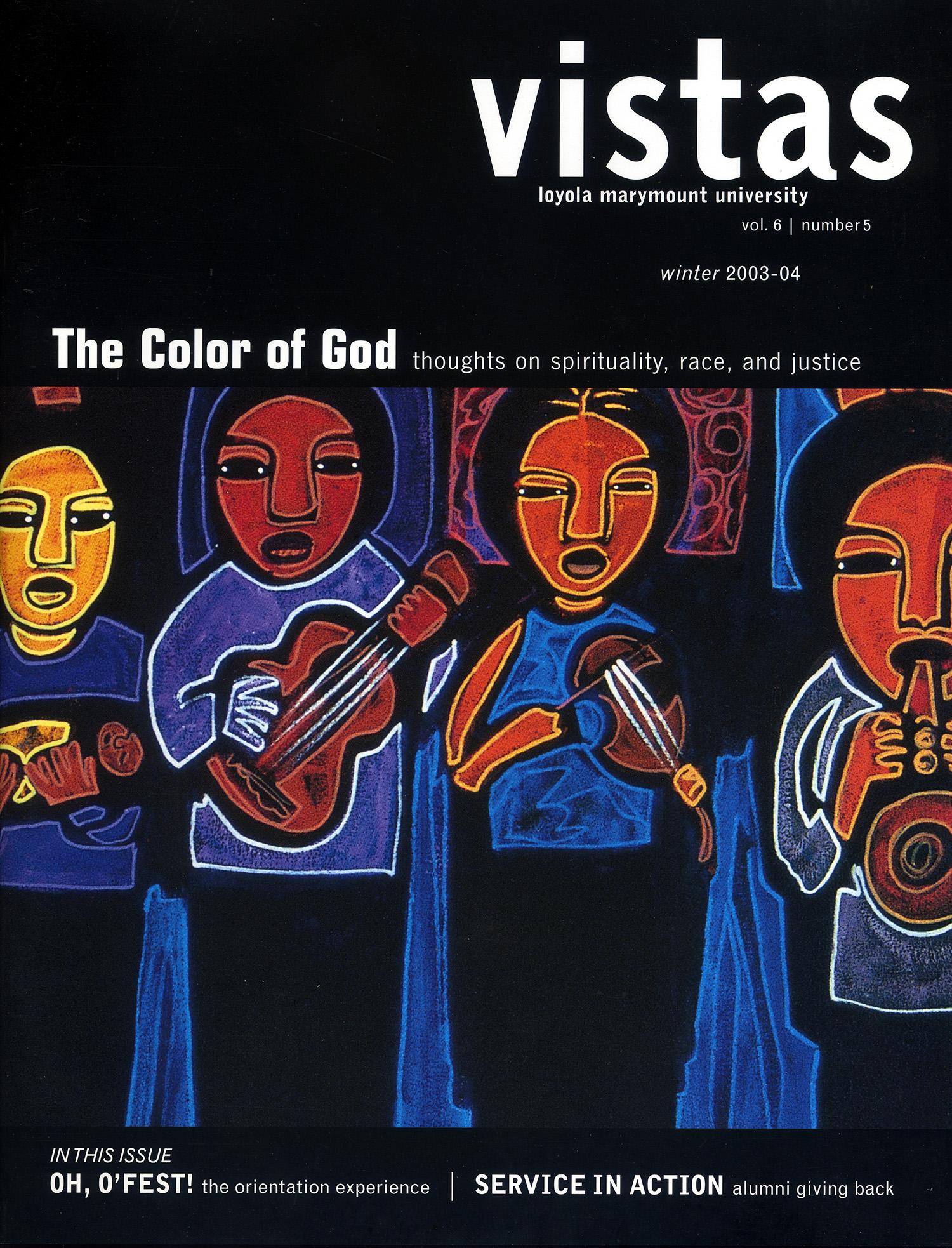 Cover Art for Vistas Magazine, LMU, Los Angeles, 2003.
