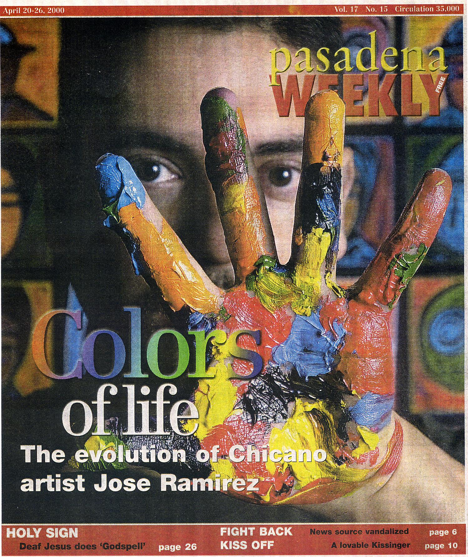 Pasadena Weekly Cover Story, 2000.