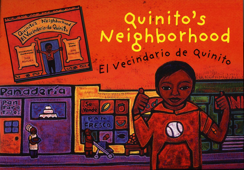 Promo card for Quinito's Neighborhood, Children's Book Press, 2005.