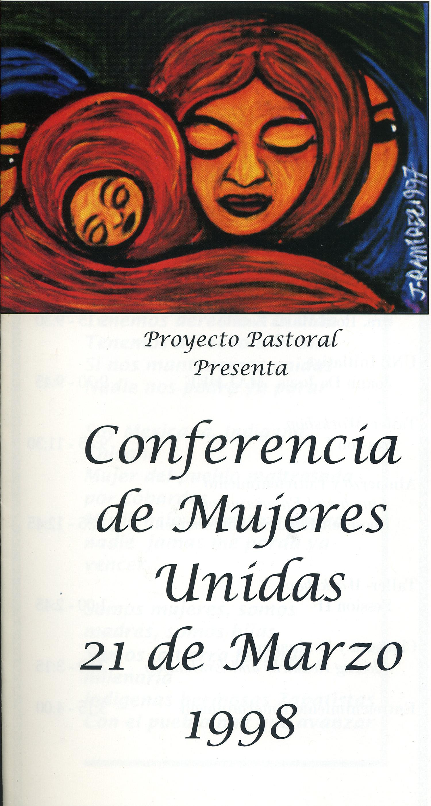 Conferance Artwork, Mujeres en Movimiento, Dolores Mission, Los Angeles, 1998.