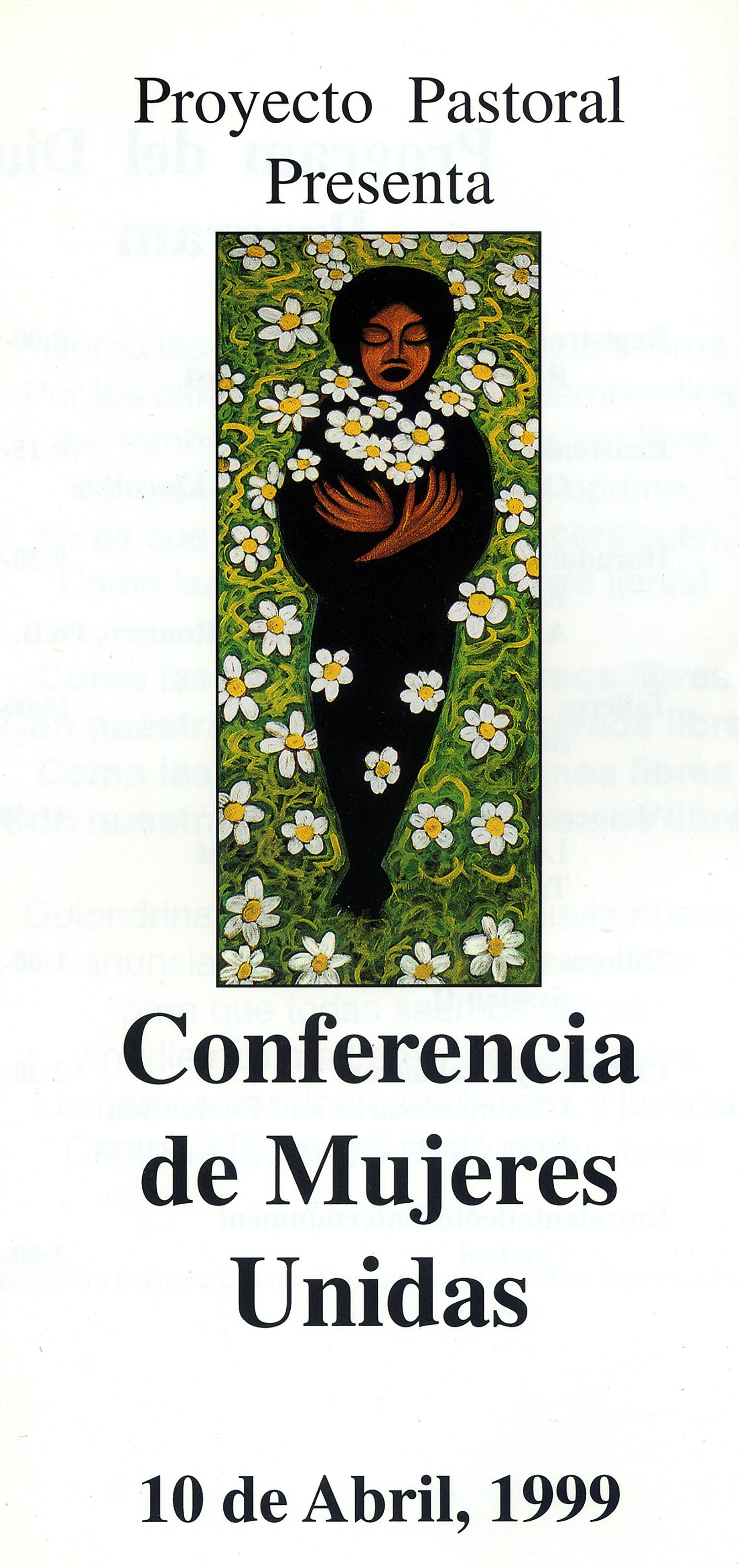 Conference Artwork, Mujeres En Movimiento, Dolores Mission, Los Angeles, 1998.
