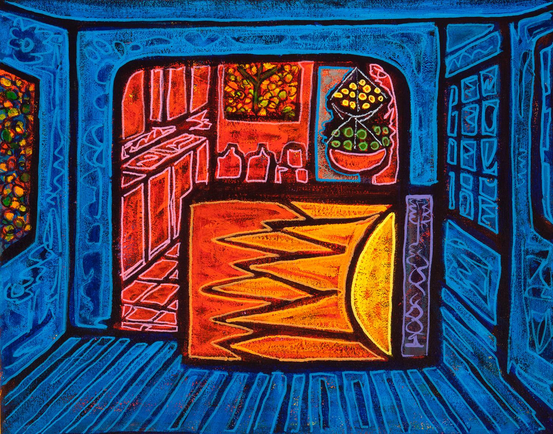blue dining room, 2015, 19x14