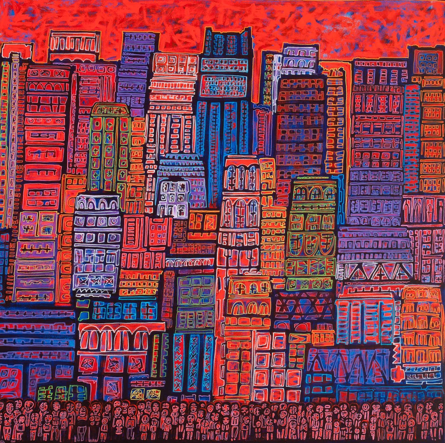 red city, 2015, 60x60