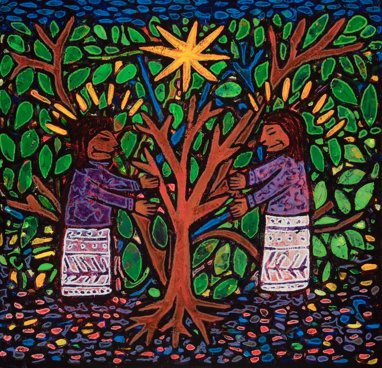 loving the trees, 2018, 17x16