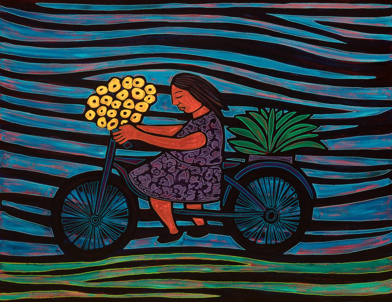 flower ride, 2016, 47x36