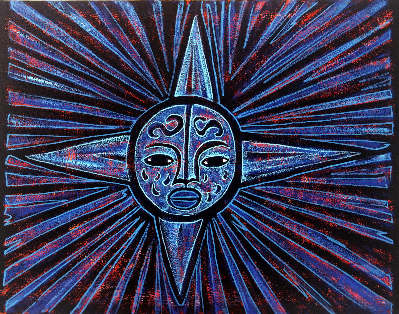 sol azul