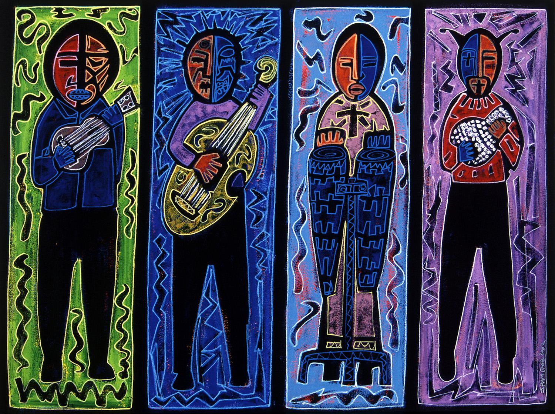 cuatro musicos