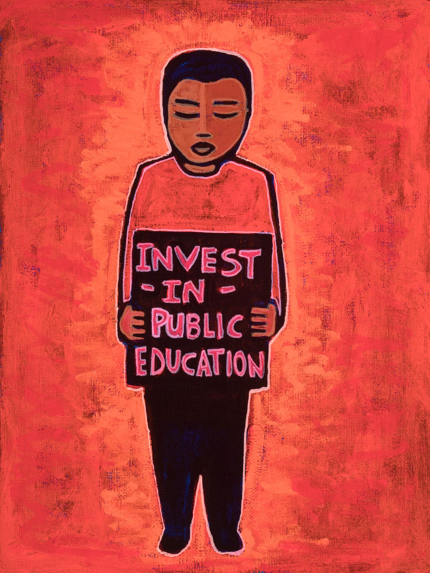 invest in public schools, 2019, 9x12