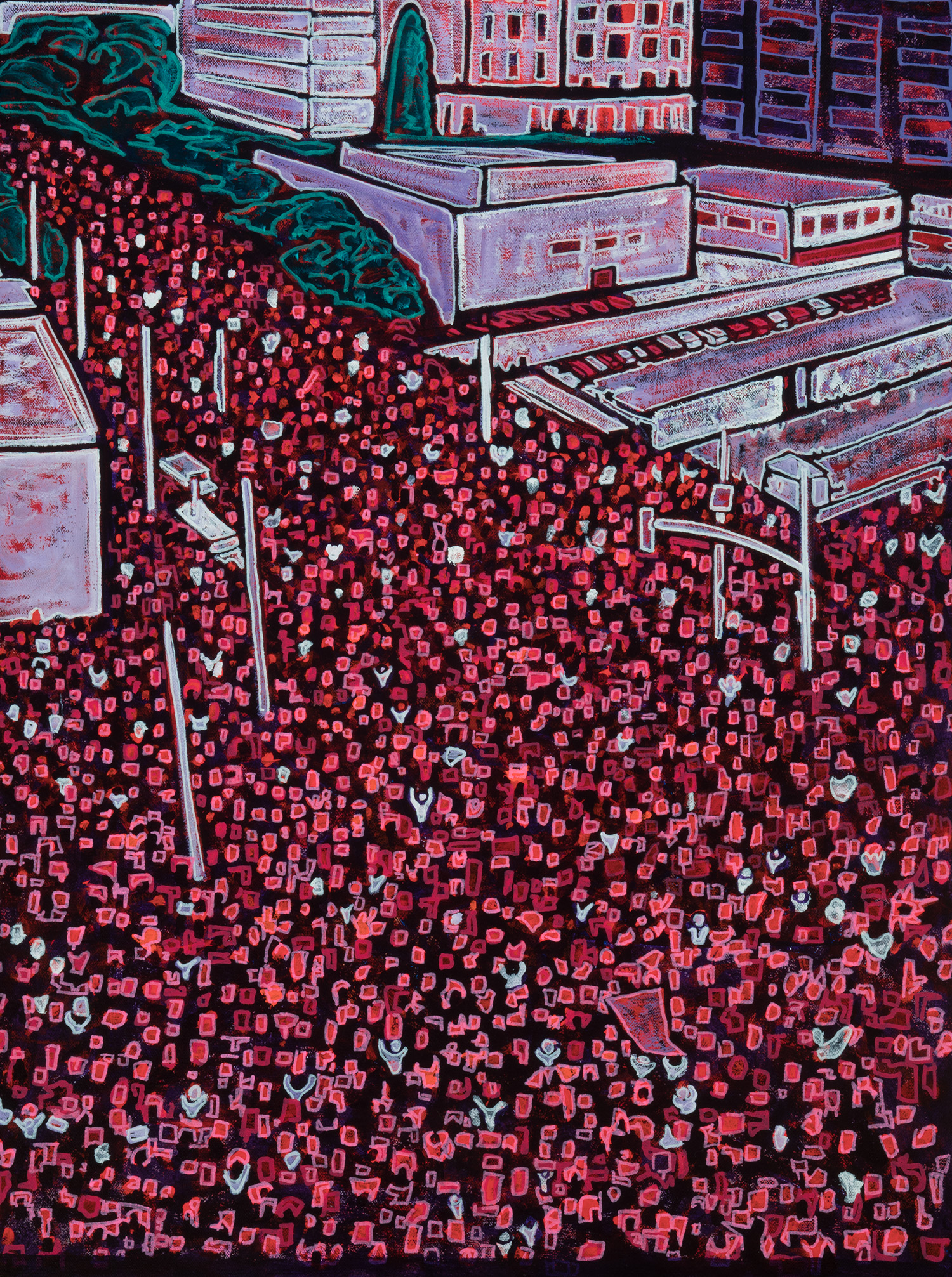marcha, 2019, 18x24