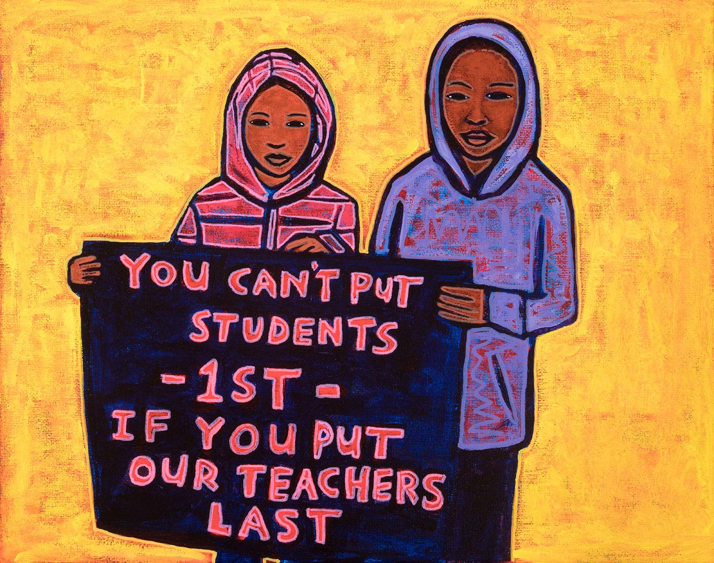 strike students, 2019, 14x11