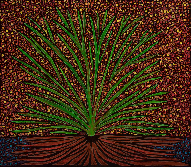 arbol de otoño, 2019, mixed media on canvas, 40x35