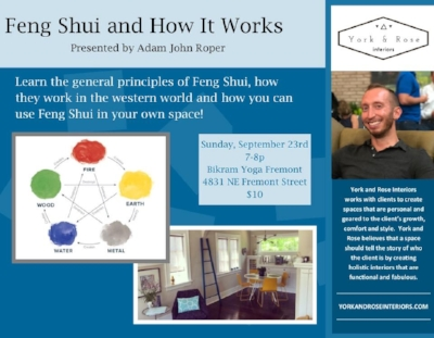 Upcoming Into to Feng Shui Lecture in Portland, OR!