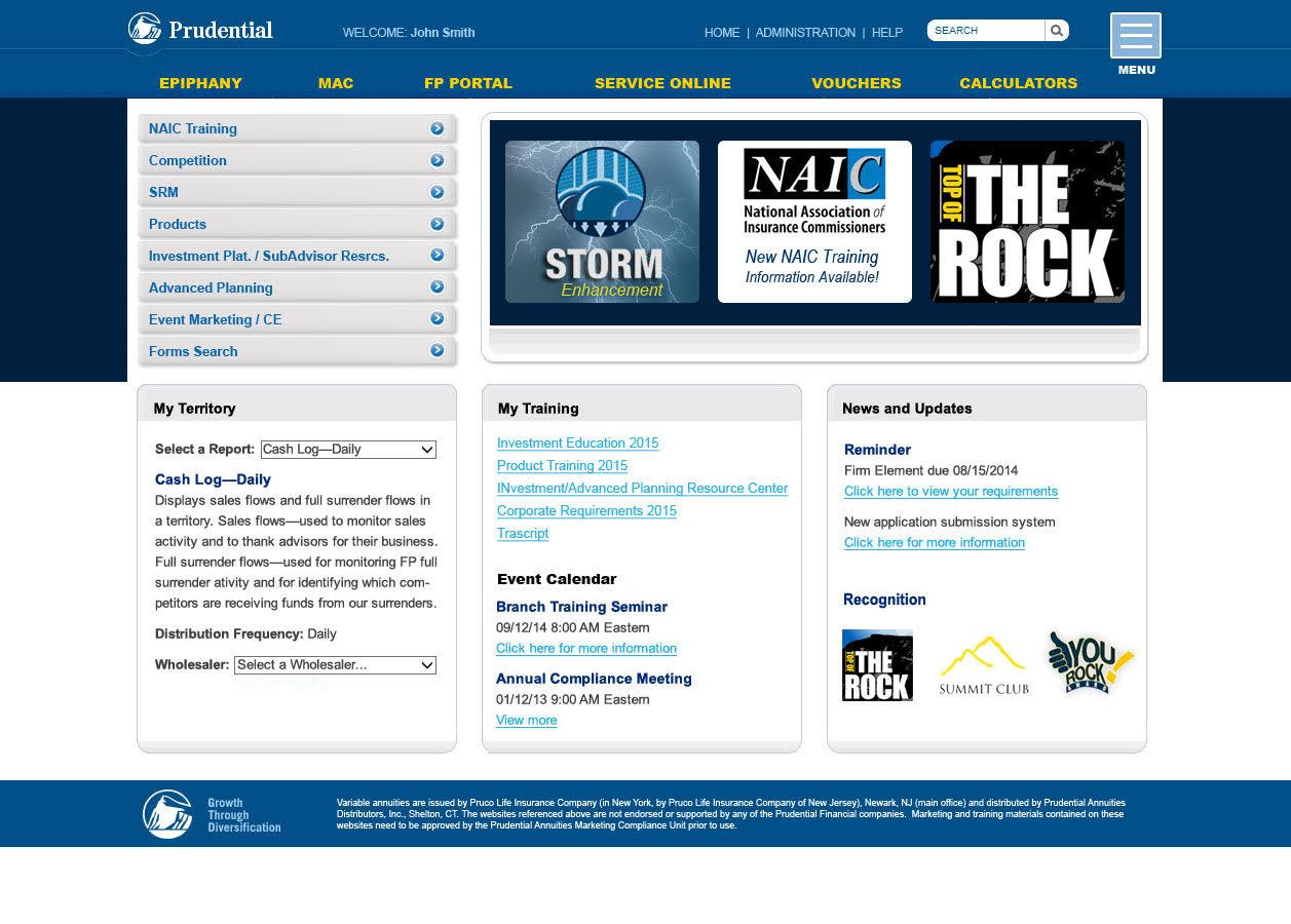 Prudential: Sales Portal
