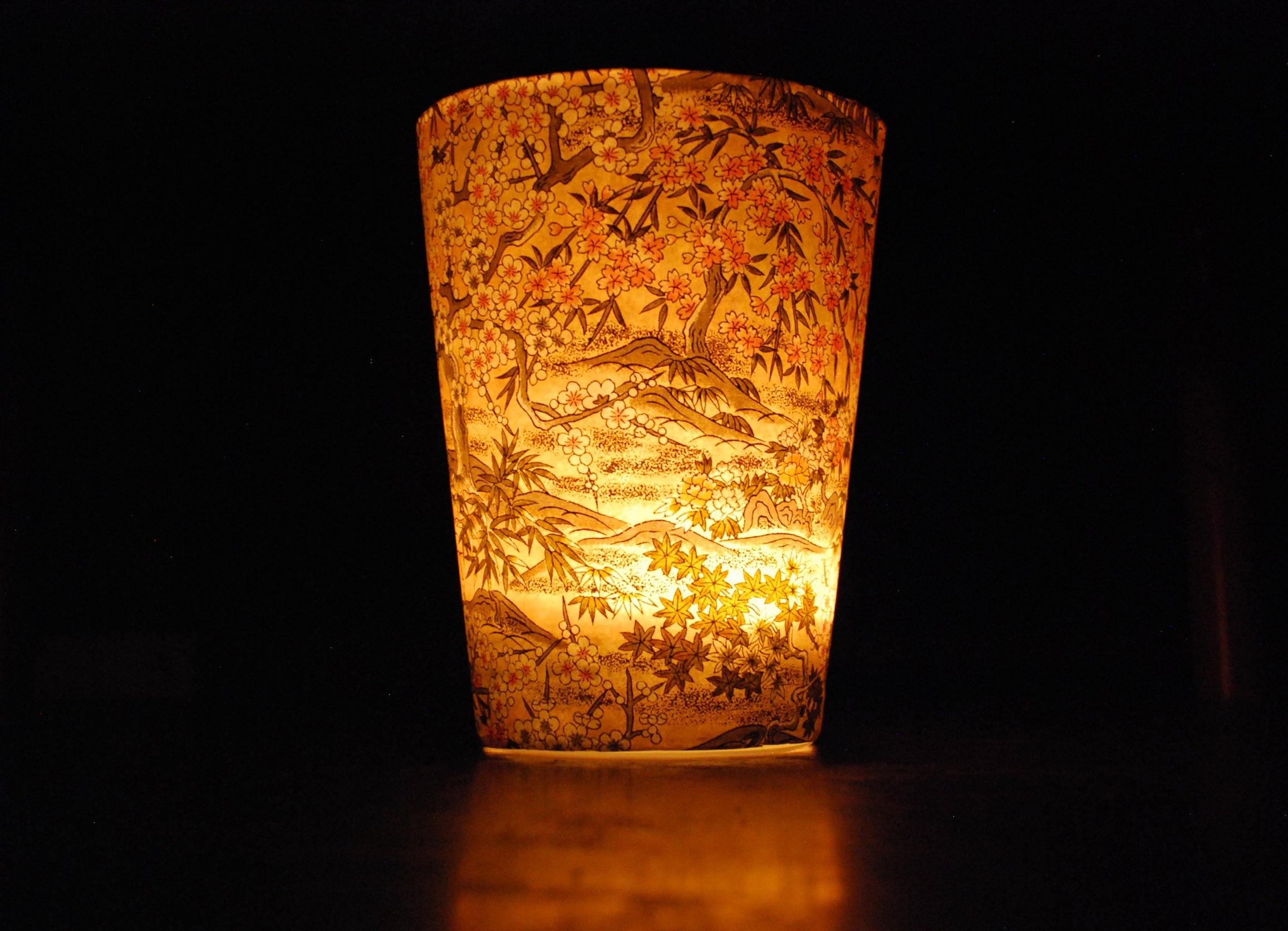 Custom Peony Rose candle burning.