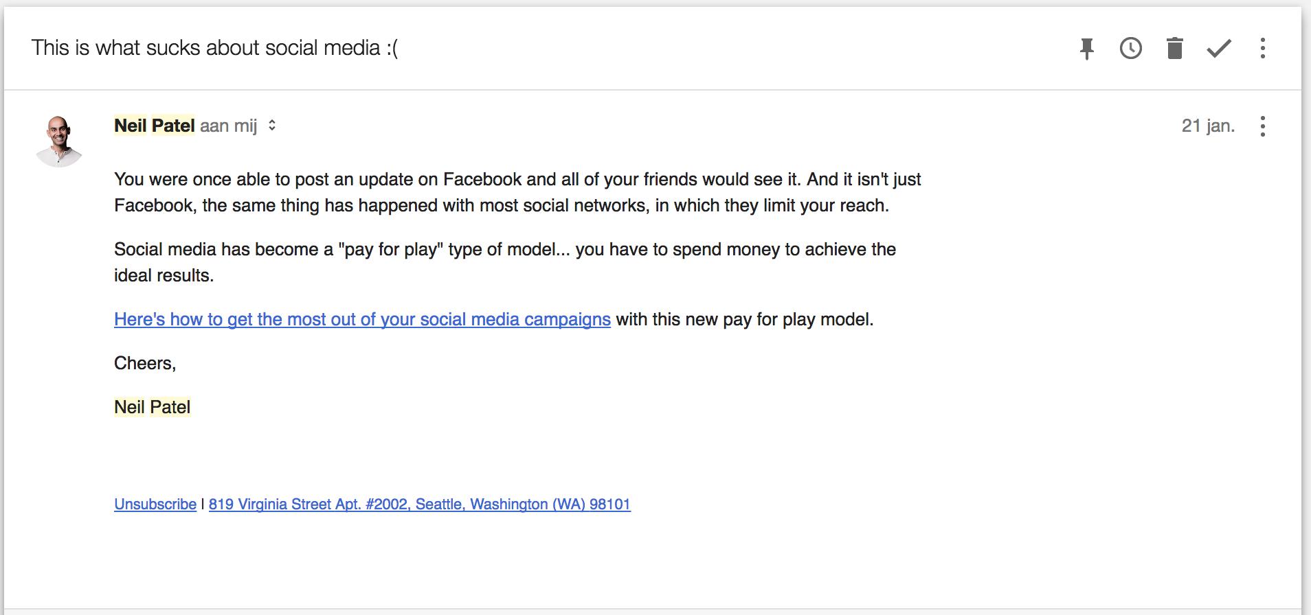 Neil Patel e-mail