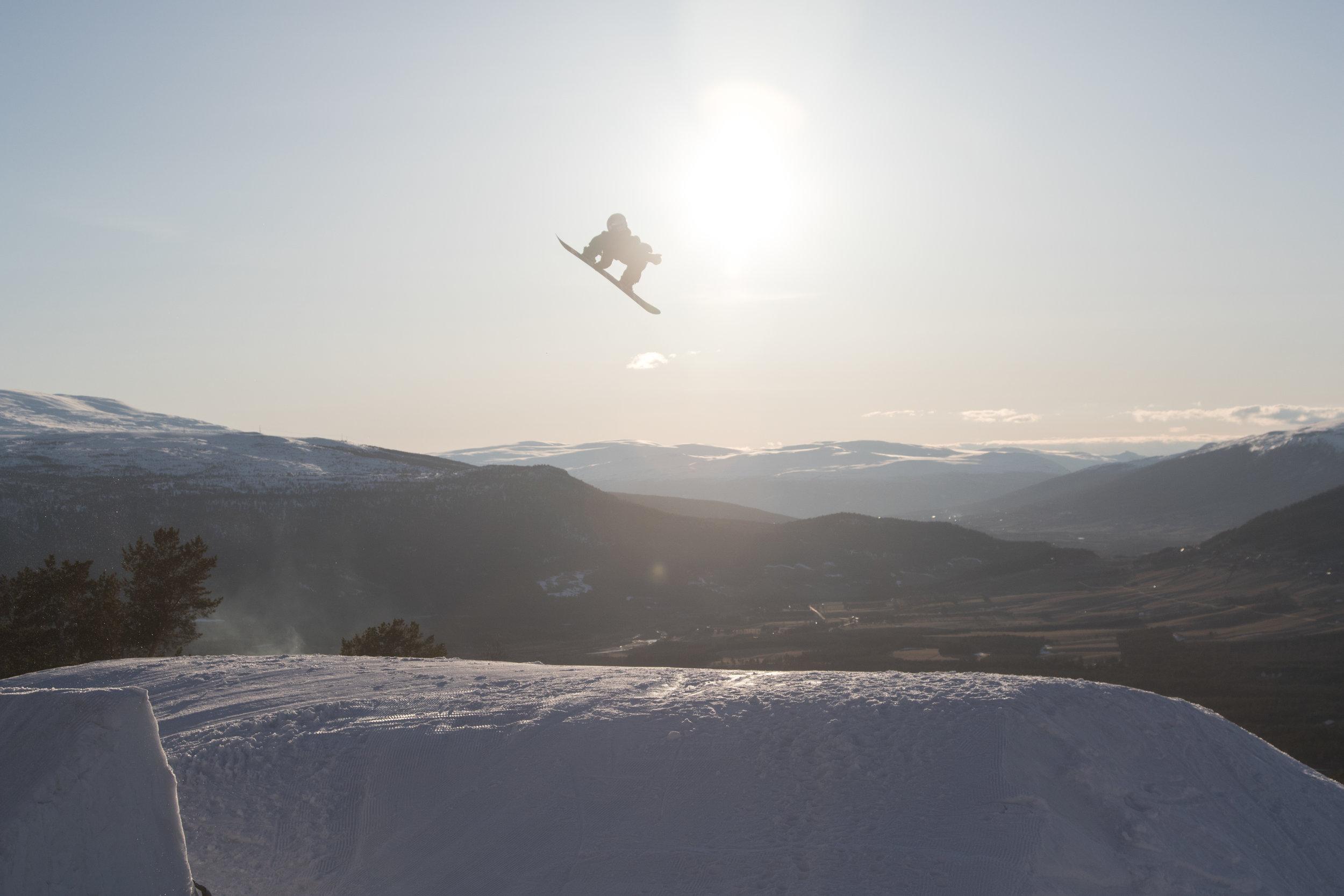 Twintip og snowboard -