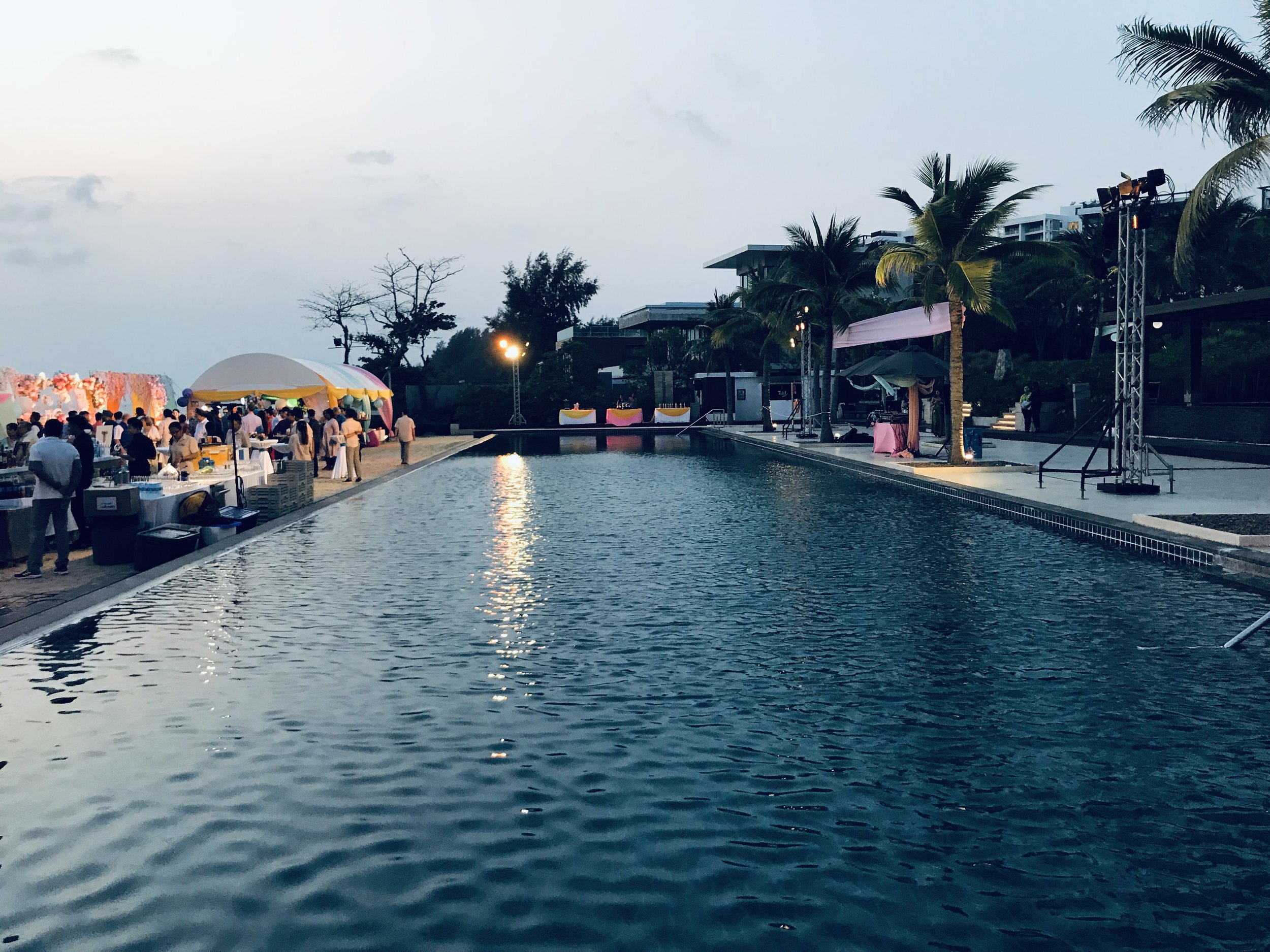 a luxury resort with beautiful surroundings, has many different areas to host different themed events, from a beach wedding whilst watching the sunset to a grand ball with its luxury settings. - Rayong Marriott Resort & Spa, thailand