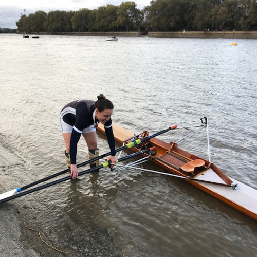 Sophie Hosking MBE, prepares to go afloat in Rob's single