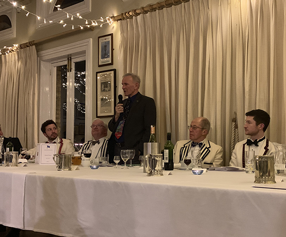 Martin Cross, LRC Honorary Member, captivated the audience with illuminating rowing anecdotes.