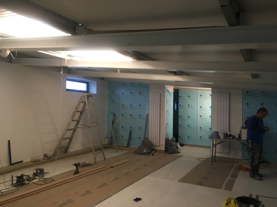 The new changing room taking shape