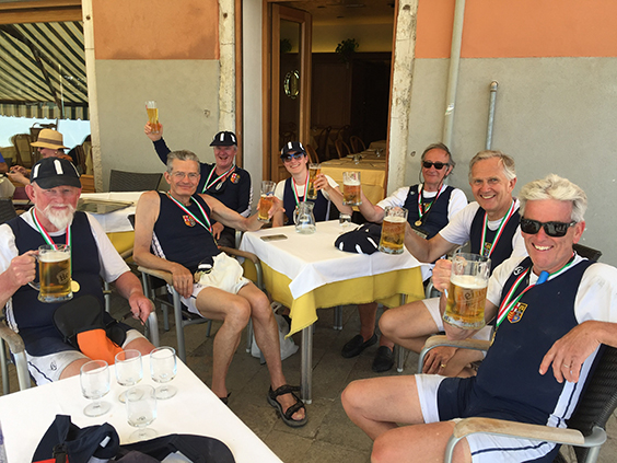 'The best drink of the year – shortly after rowing 32kms in 26c!'