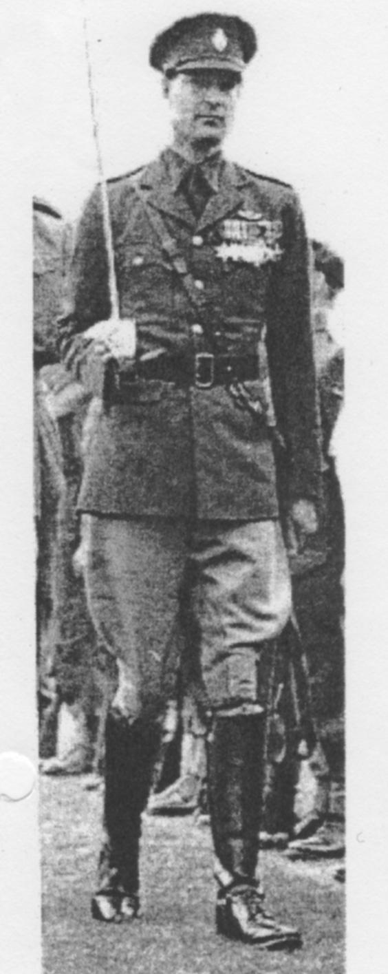 John Marsden in military splendour.