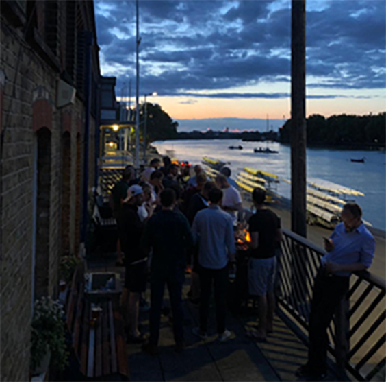 36 members boated on Wednesday, Green Buoy and back, then a BBQ with the sunset!