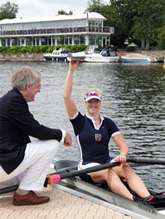Meghan Jackson after winning the band 1 single scull.