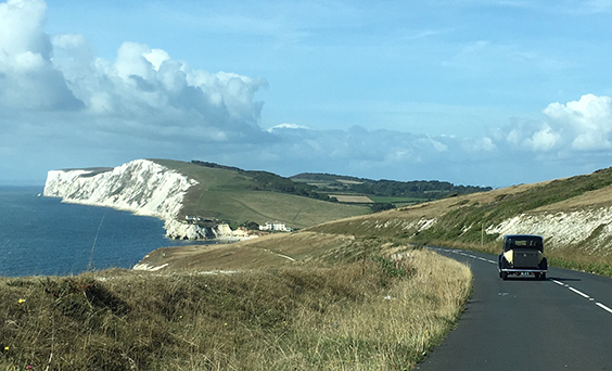 Heading west towards the Needles along the Military Road on the Isle of Wight.