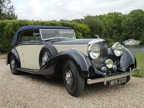 1938 4.25 litre two door drophead Derby Bentley