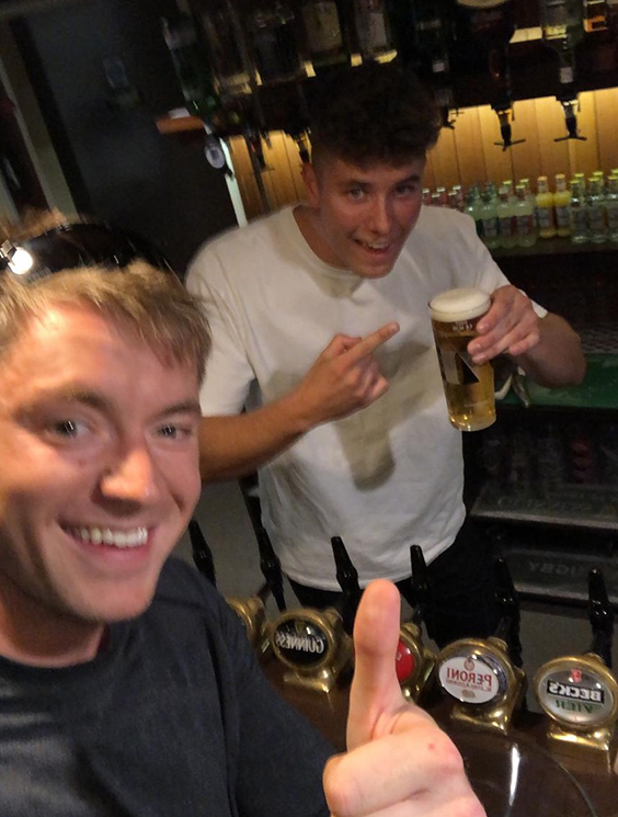Max Silver pulling the perfect pint
